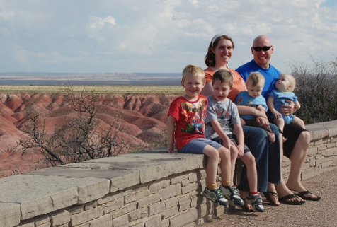 Our Family at the Painted Desert in 2010