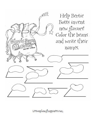 photo regarding Bertie Botts Every Flavor Beans Printable identify Bertie Botts Develop Your Style Lesson System of Joy