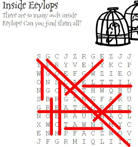 Inside Eeylops Wordsearch Answer Key