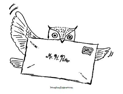 Owl Post Coloring Page