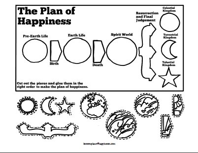 Plan of Happiness Cut and Glue