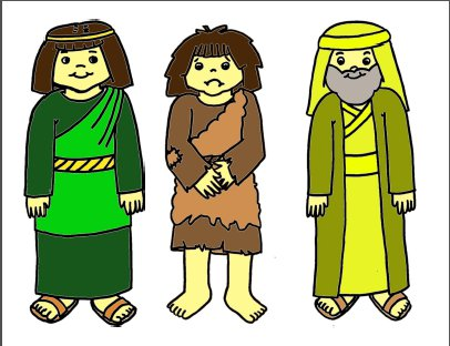 Prodigal Son Stick Puppets or Flannel Board Figures