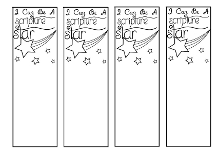 Scripture Star Bookmark Printable