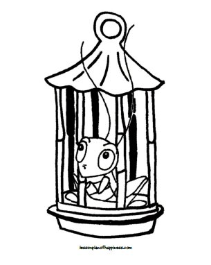 Mulan Lucky Cricket Coloring Page