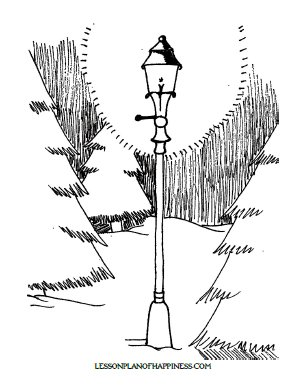 The Lion, the Witch, and the Wardrobe Lamp-post Coloring Page