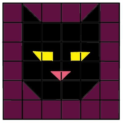 Black Cat Mystery Grid Key