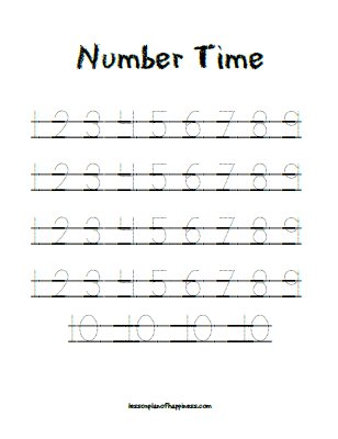 Number Names Worksheets : tracing numbers 1 to 10 ~ Free Printable ...