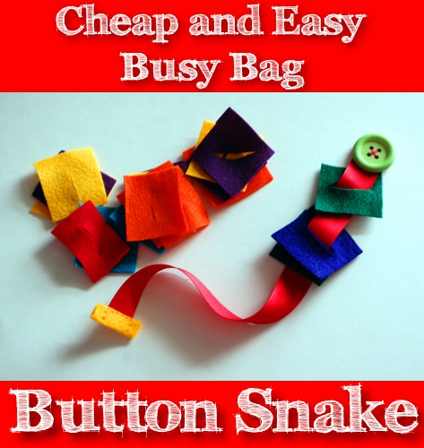 Cheap and Easy Busy Bag: Button Snake