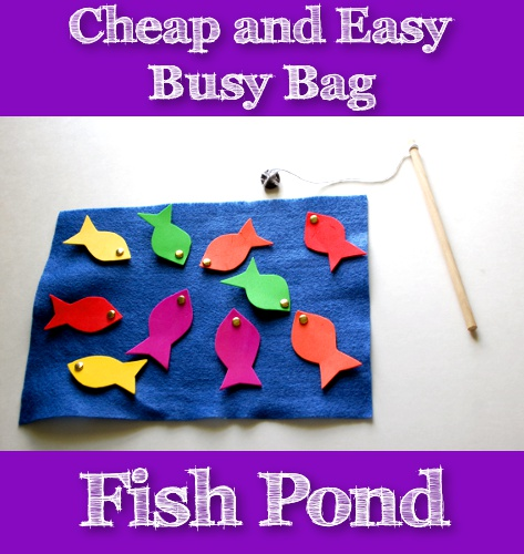 Cheap and Easy Busy Bag: Fish Pond