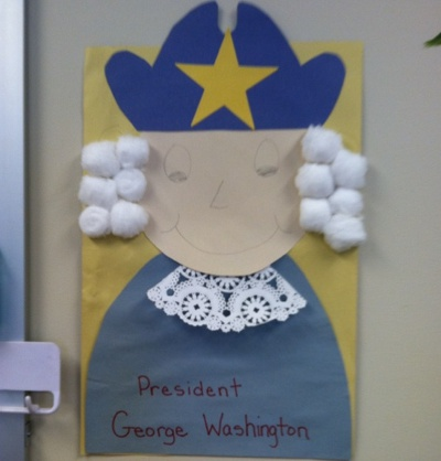 George Washington Cotton Ball Craft