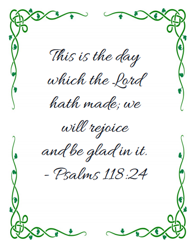 Psalms 118:24 Printable to Ponderize