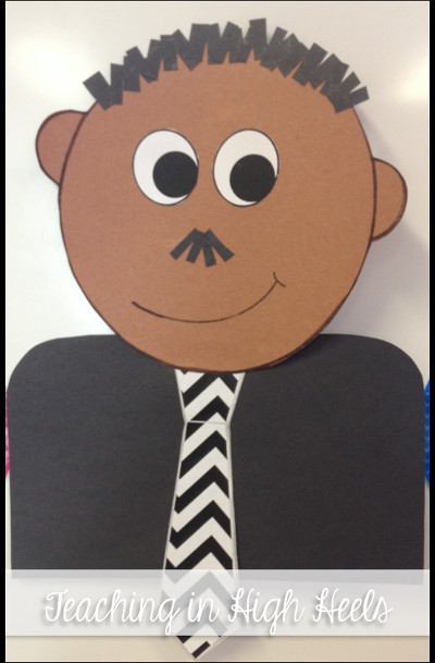 Martin Luther King Craft - Free Martin Luther King Jr Mini Unit