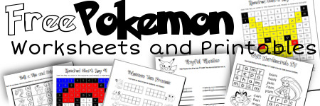 Free Pokemon Worksheets and Printables